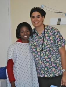 ER Nurse Shireen Mathai (on right)